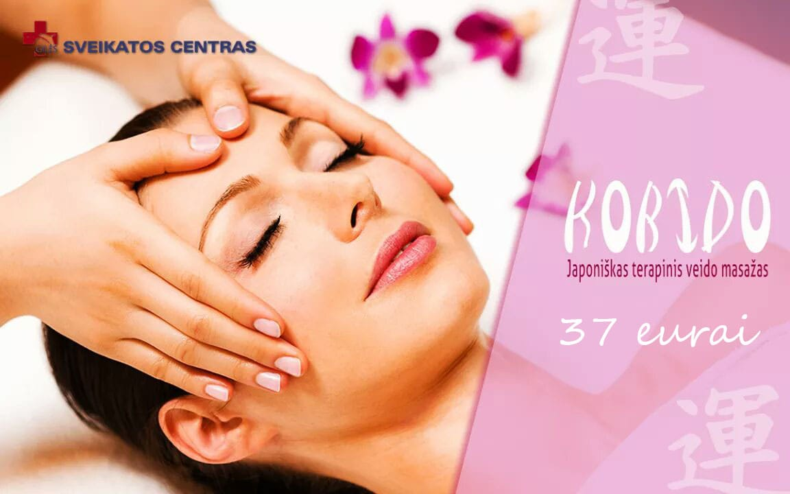 10 % nuolaida Japoniškam terapiniam veido masažui KOBIDO